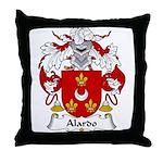 Alardo Family Crest Throw Pillow