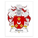 Alardo Family Crest Small Poster