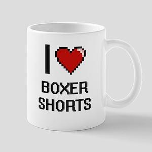I Love Boxer Shorts Digitial Design Mugs