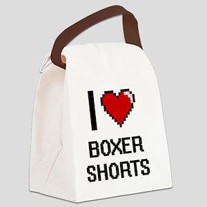 I Love Boxer Shorts Digitial Desi Canvas Lunch Bag