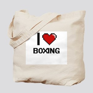 I Love Boxing Digitial Design Tote Bag