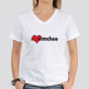 """I Love Kimchee"" Women's Pink T-Shirt"