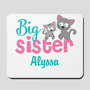 Big sister kitty personalized Mousepad