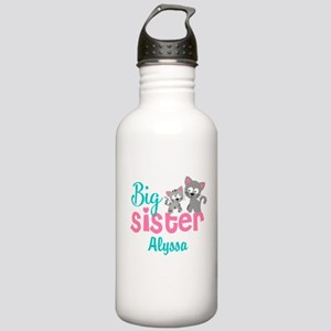 Big sister kitty personalized Water Bottle