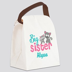 Big sister kitty personalized Canvas Lunch Bag