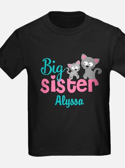 Big sister kitty personalized T-Shirt