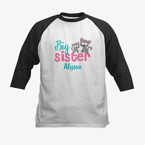 Big sister kitty personalized Baseball Jersey