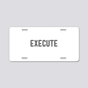Execute Aluminum License Plate