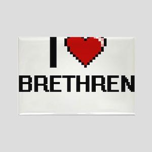 I Love Brethren Digitial Design Magnets