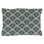 Art Deco Concentric Sage Pillow Case