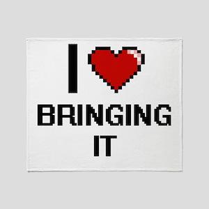I Love Bringing It Digitial Design Throw Blanket