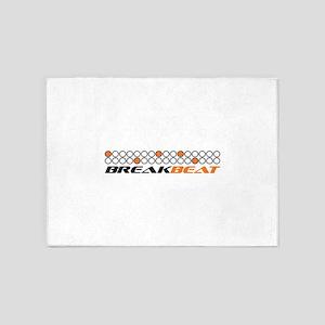 Break beat orange 5'x7'Area Rug