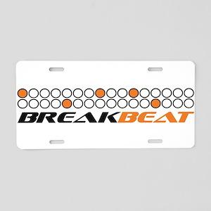 Break beat orange Aluminum License Plate