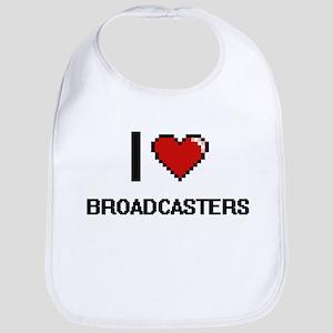 I Love Broadcasters Digitial Design Bib