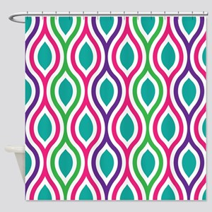 Ogee Retro Bright Colors Shower Curtain