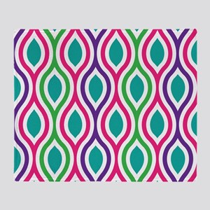 Ogee Retro Bright Colors Throw Blanket