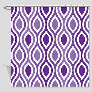 Ogee Pattern Purple Shower Curtain