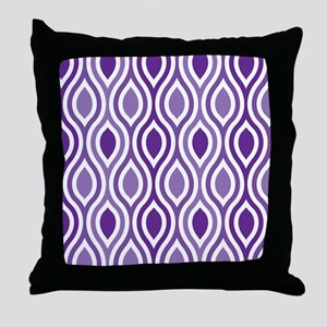 Ogee Pattern Purple Throw Pillow