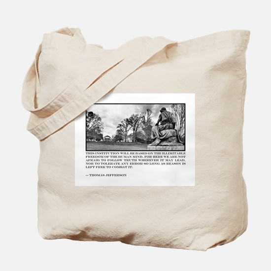 Thomas Jefferson quote on the University Tote Bag