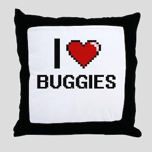 I Love Buggies Digitial Design Throw Pillow