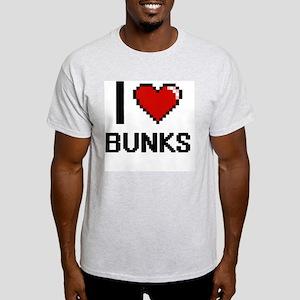 I Love Bunks Digitial Design T-Shirt