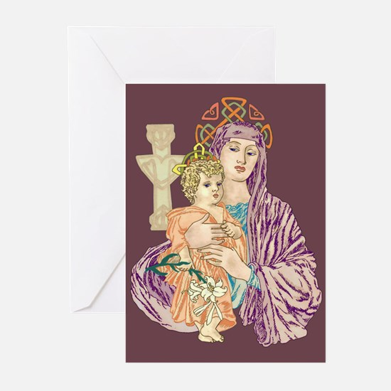 celtic madonna Greeting Cards