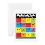 Comics Periodic Table Greeting Card