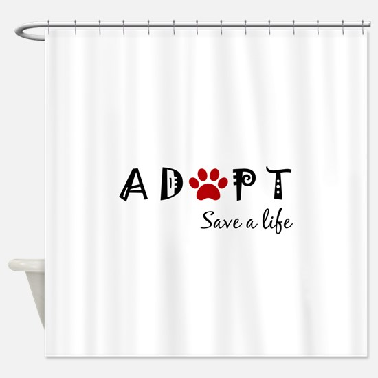 Funny Animal rescue Shower Curtain