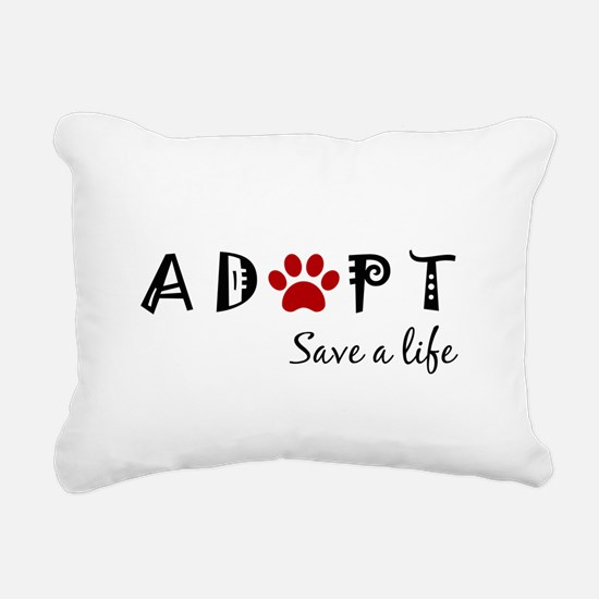 Unique Stop puppy mills Rectangular Canvas Pillow