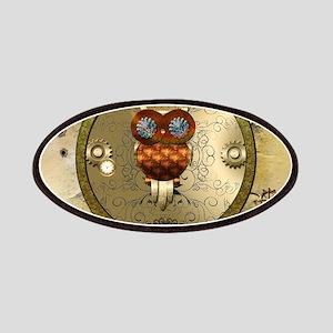 Steampunk, cute owl Patch