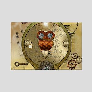 Steampunk, cute owl Magnets