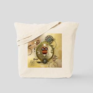 Steampunk, cute owl Tote Bag