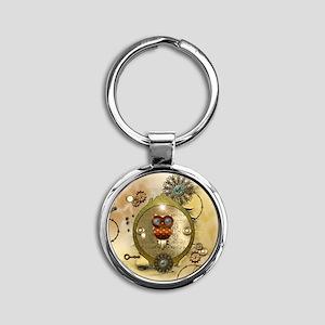 Steampunk, cute owl Keychains