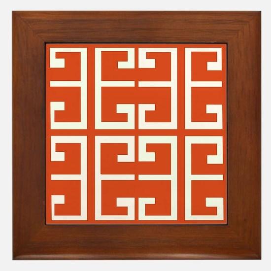 Dark Orange Tile Framed Tile