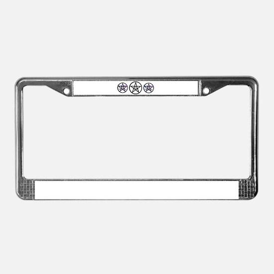 Pentale Harm None Blue License Plate Frame