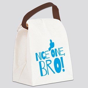 Nice one BRO with thumbs up Canvas Lunch Bag