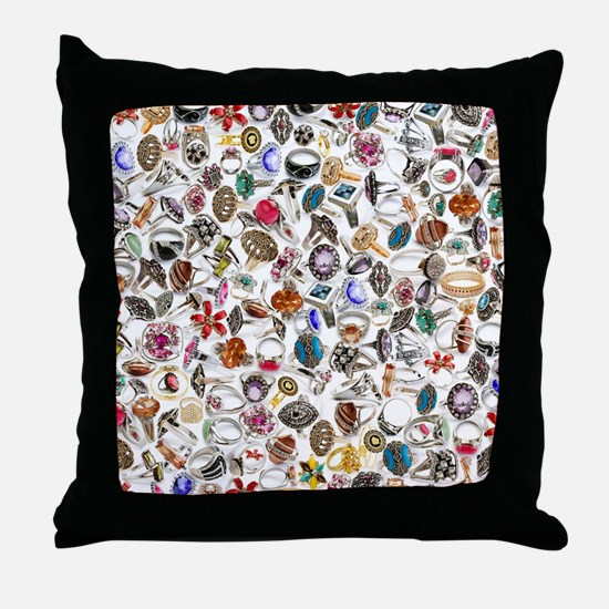 jewelry rings Throw Pillow