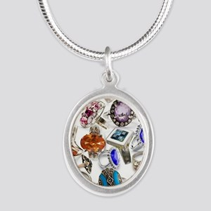 jewelry rings Silver Oval Necklace