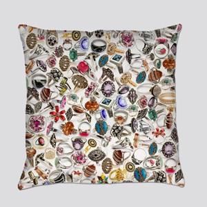 jewelry rings Everyday Pillow