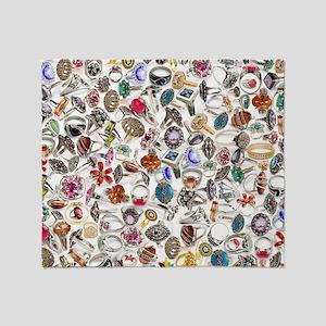 jewelry rings Throw Blanket