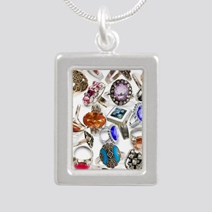 jewelry rings Silver Portrait Necklace