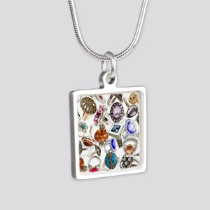 jewelry rings Silver Square Necklace