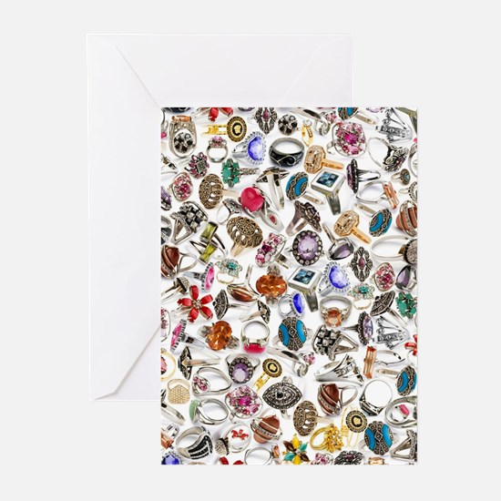 jewelry rings Greeting Cards