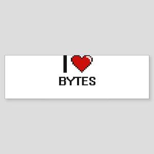 I Love Bytes Digitial Design Bumper Sticker
