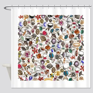 jewelry rings Shower Curtain