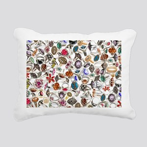 jewelry rings Rectangular Canvas Pillow