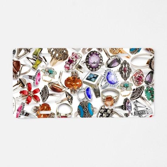 jewelry rings Aluminum License Plate