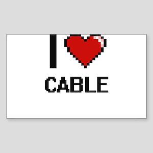 I love Cable Digitial Design Sticker