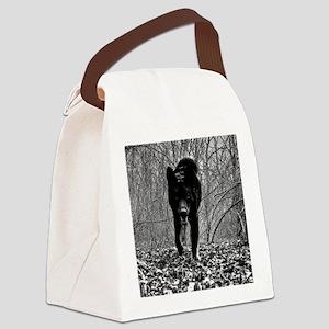 Black Wolf Canvas Lunch Bag