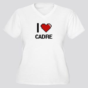 I love Cadre Digitial Design Plus Size T-Shirt